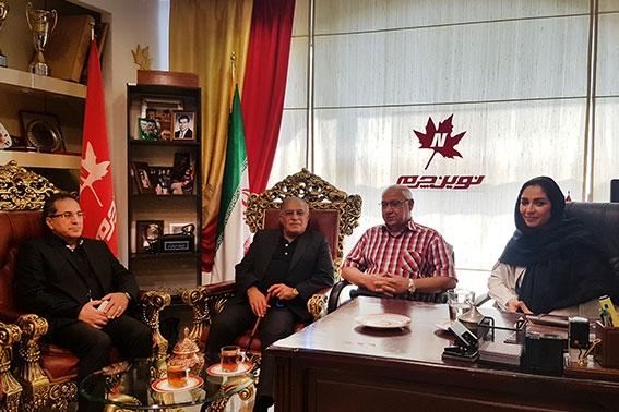 حضور اسطوره فوتبال ایران جناب آقای حسن روشن در نوینچرم