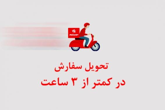 امکان تحویل سفارش در کمتر از 3 ساعت در شهر تهران فراهم شد.