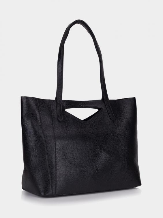 کیف دوشی زنانه 0215 LHB4722 BO رنگ مشکی نمای جلو