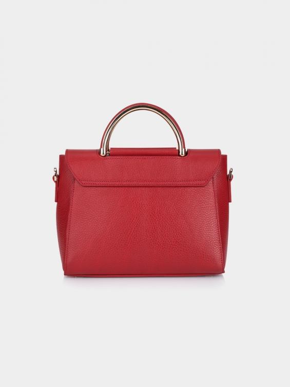 کیف دوشی زنانه رز LHB4662 SHK رنگ قرمز نمای پشت