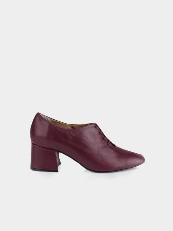 کفش مجلسی زنانه 5683 WS3140 RV رنگ زرشکی نمای بغل