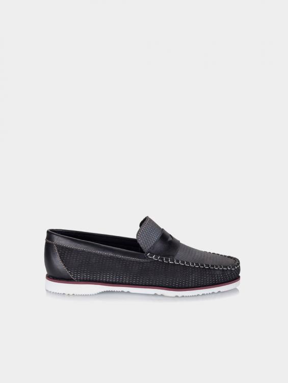 کفش کالج مردانه کیمونی MS2367 F رنگ مشکی نمای بغل