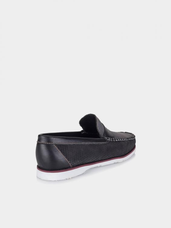 کفش کالج مردانه کیمونی MS2367 F رنگ مشکی نمای پشت