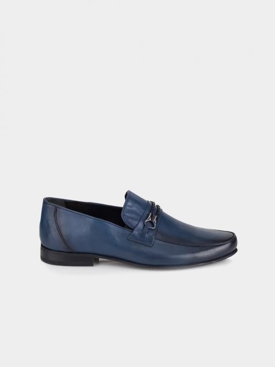 کفش کلاسیک مردانه 2606 MS2647 RV رنگ سرمه ای نمای بغل