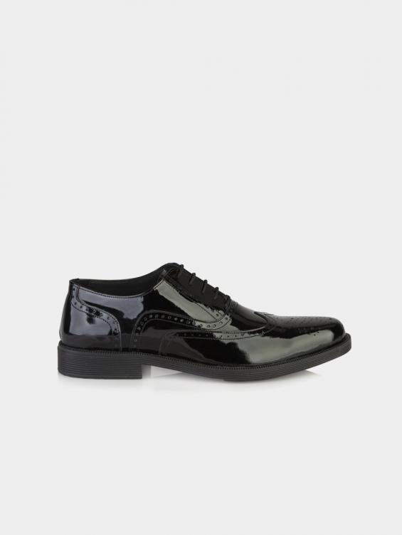 کفش مردانه کیمبرلی ورنی MS2030 MO رنگ مشکی نمای بغل