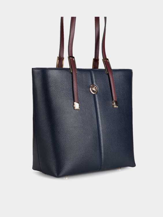 کیف دوشی زنانه روژین LHB4541 EX رنگ سرمه ای