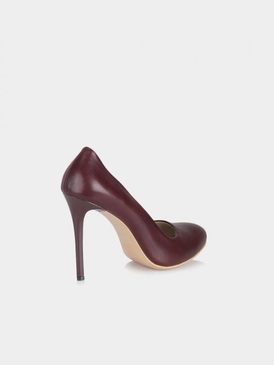 کفش مجلسی زنانه 7001 WS3022 DS رنگ زرشکی نمای پشت