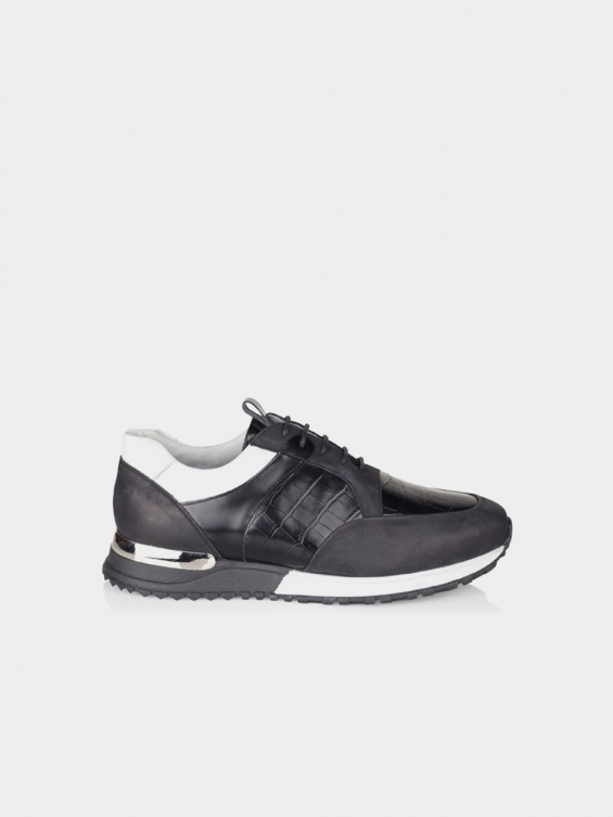 کفش اسپورت مردانه 6080 MS2430 L رنگ مشکی نمای بغل