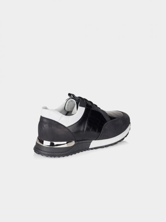 کفش اسپورت مردانه 6080 MS2430 L رنگ مشکی نمای پشت