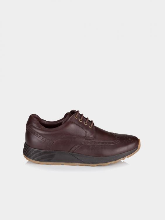 کفش اسپورت مردانه 71105 MS2531 AG رنگ قهوه ای نمای بغل