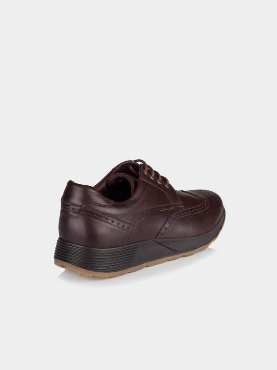 کفش اسپورت مردانه 71105 MS2531 AG رنگ قهوه ای نمای پشت