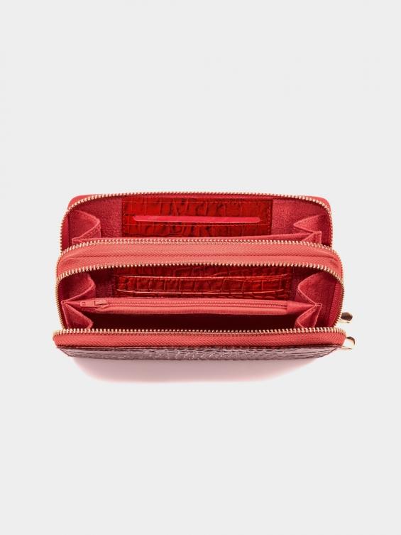 کیف پول شیوا PW3079 BA رنگ قرمز نمای داخل