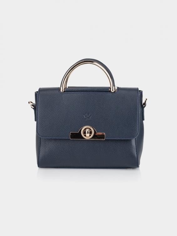 کیف دوشی زنانه رز LHB4662 SHK رنگ سرمه ای نمای جلو