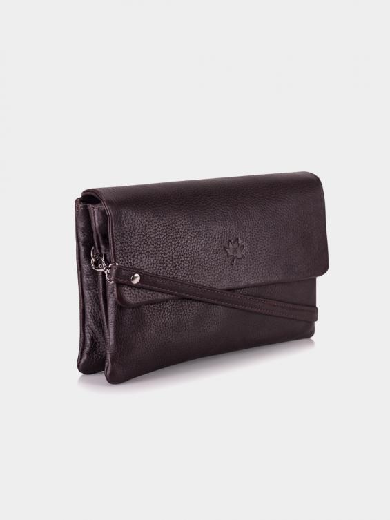 کیف دوشی زنانه روشنا LHB4571 M رنگ قهوه ای نمای جلو