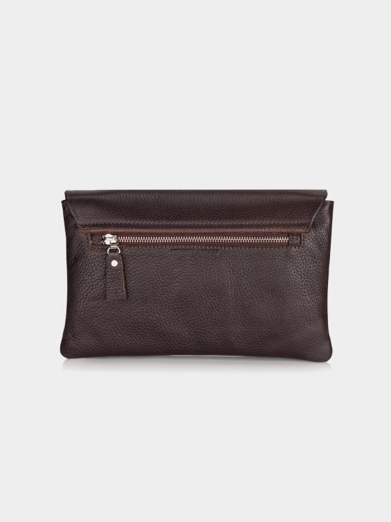 کیف دوشی زنانه روشنا LHB4571 M رنگ قهوه ای نمای پشت