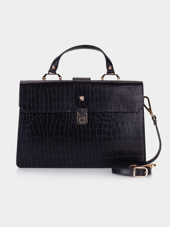 کیف دوشی زنانه فایلا LHB4757 SHK رنگ مشکی نمای جلو
