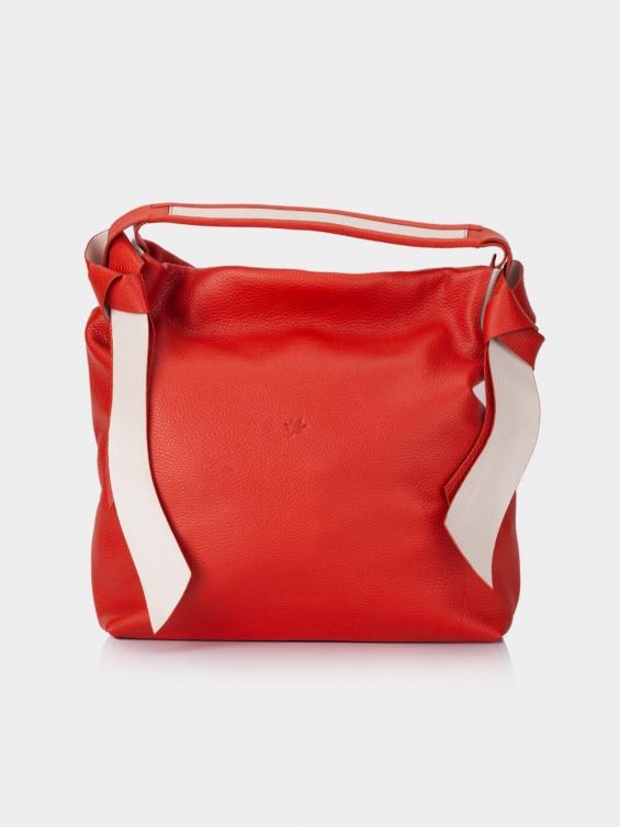 کیف دوشی زنانه 1252 LHB4684 SHK رنگ قرمز نمای جلو