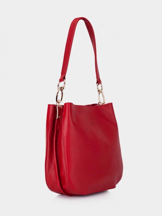 کیف دوشی زنانه فالور LHB4753 SHK رنگ قرمز