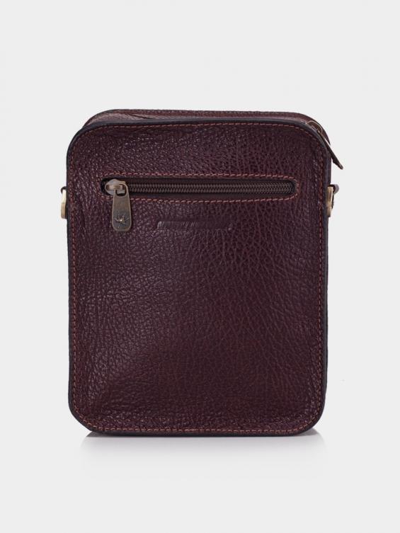 کیف هیکلی MSB3921 N 1069 رنگ زرشکی نمای پشت