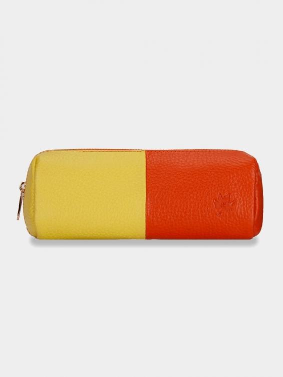 کیف آرایشی آتانا CBX0323 AE رنگ زرد نارنجی