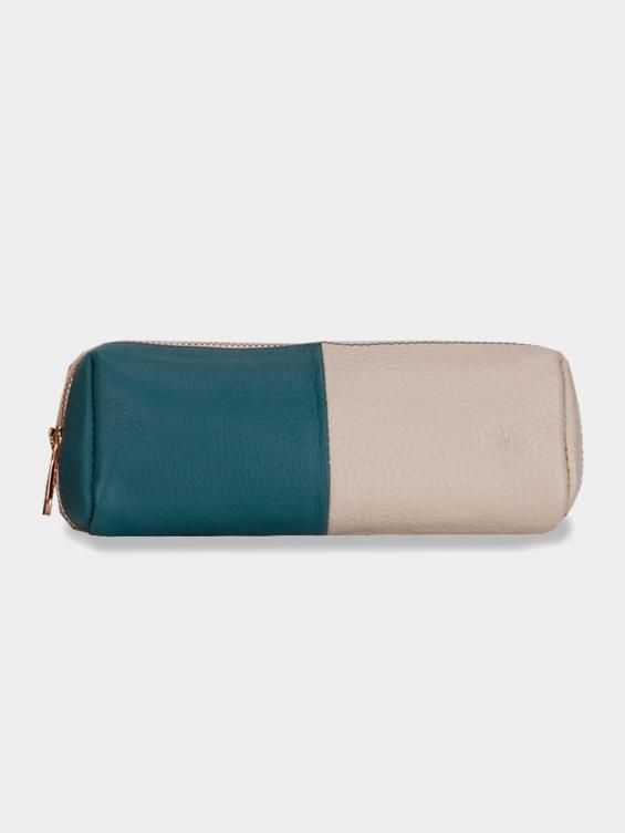 کیف آرایشی آتانا CBX0323 AE رنگ آبی شیری