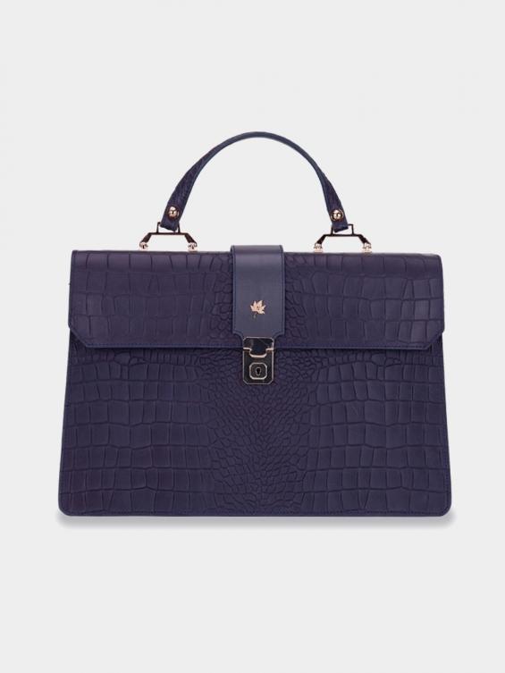 کیف دوشی زنانه فایلا LHB4757 SHK رنگ سرمه ای نمای جلو