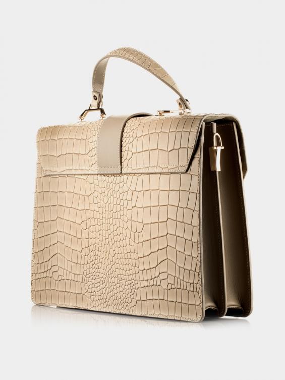 کیف دوشی زنانه فایلا LHB4757 SHK رنگ کرم نمای پشت