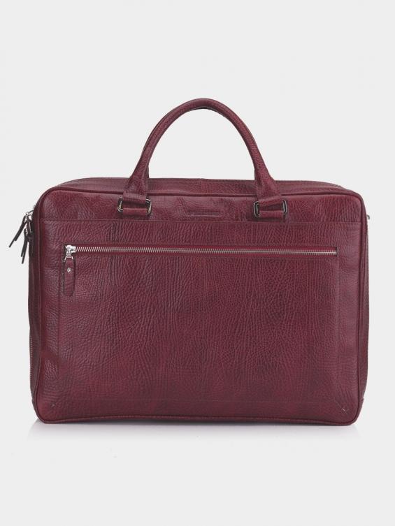 کیف اداری منتو BE4988 KF رنگ زرشکی نمای پشت