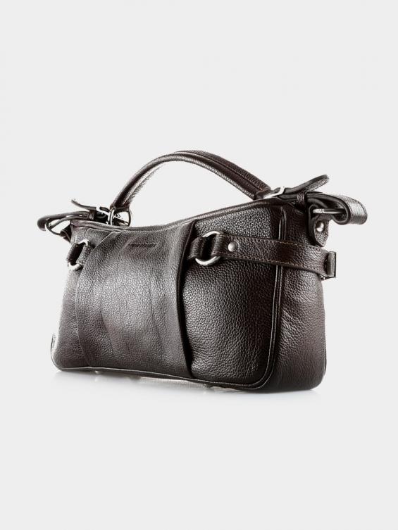 کیف دوشی زنانه ژولین LHB4371 L رنگ قهوه ای نمای پشت