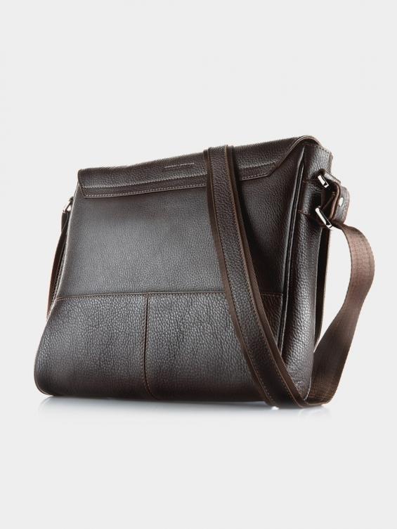 کیف هيکلی هانا MSB3871 MZ رنگ قهوه ای نمای پشت