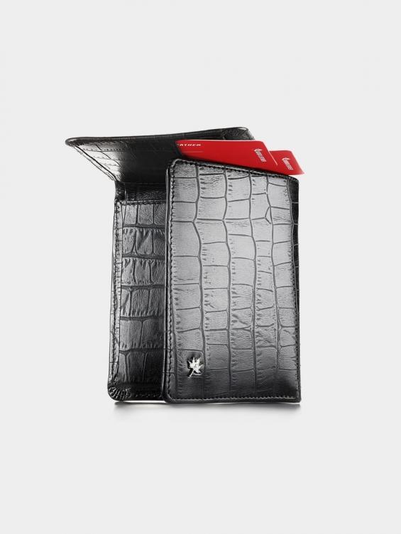 کیف جیبی پاریس PE2601 RA رنگ مشکی جنس کوروکو نمای بیرون