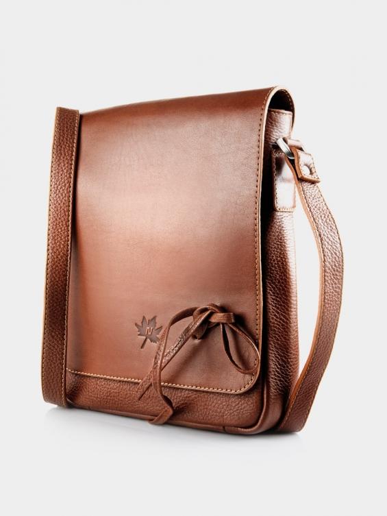 کیف دوشی زنانه LHB4469 M 406 رنگ عسلی نمای جلو