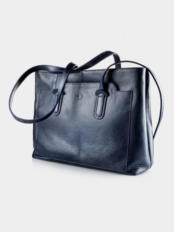 کیف دوشی زنانه 1020-1 LHB4702 MZ رنگ سرمه ای نمای جلو