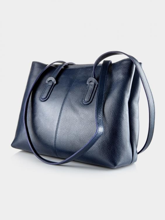 کیف دوشی زنانه 1020-1 LHB4702 MZ رنگ سرمه ای نمای پشت