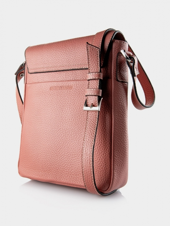 کیف دوشی زنانه LHB4469 M 406 رنگ صورتی نمای پشت