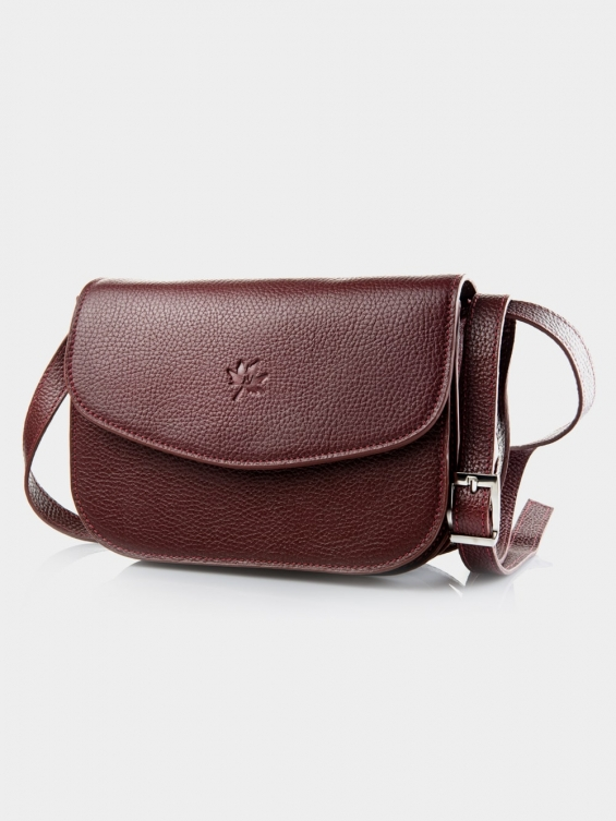 کیف دوشی زنانه 1019-1 LHB4701 CH رنگ زرشکی نمای بیرون