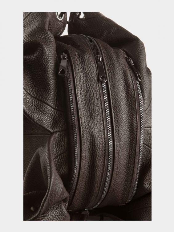 کیف دوشی زنانه 0203 LHB4739 BO رنگ قهوه ای نمای بغل