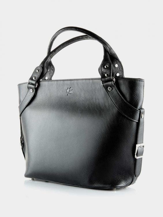 کیف دوشی زنانه 1004-1 LHB4689 CH رنگ مشکی نمای جلو