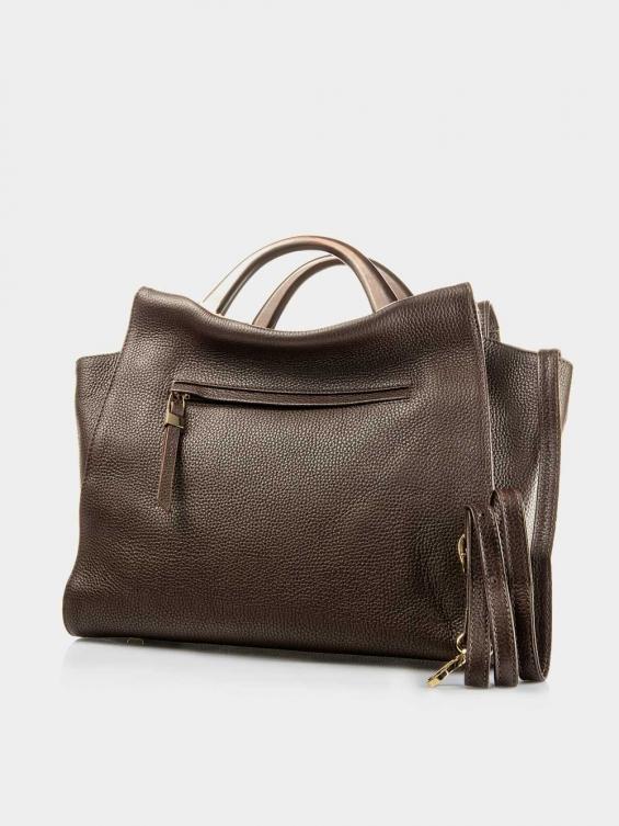 کیف دوشی زنانه 0097 LHB4731 BO رنگ قهوه ای نمای پشت
