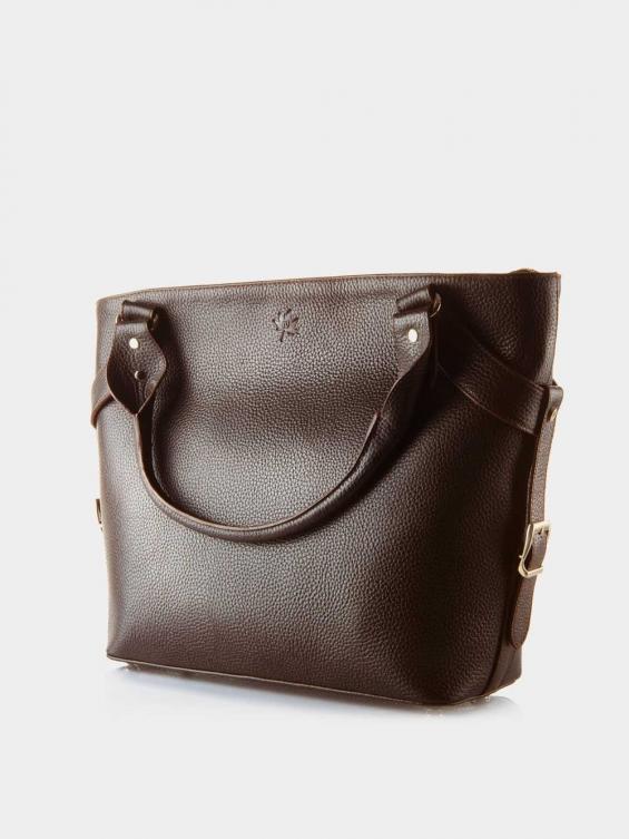 کیف دوشی زنانه 1004-1 LHB4689 CH رنگ قهوه ای نمای جلو