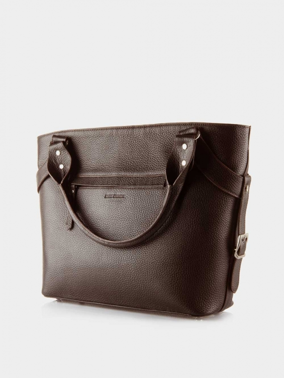 کیف دوشی زنانه 1004-1 LHB4689 CH رنگ قهوه ای نمای پشت