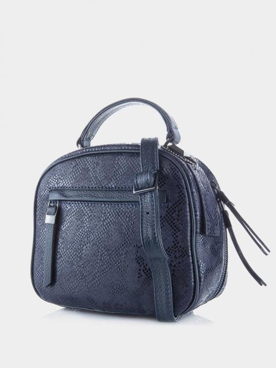 کیف دوشی زنانه 005 LHB4750 BO رنگ سرمه ای نمای پشت