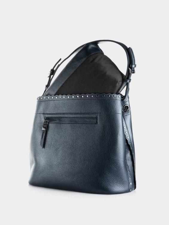 کیف دوشی زنانه 0229 LHB4751 BO رنگ سرمه ای