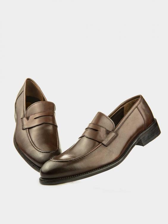 کفش کلاسیک مردانه 61442 MS2618 RV رنگ قهوه ای