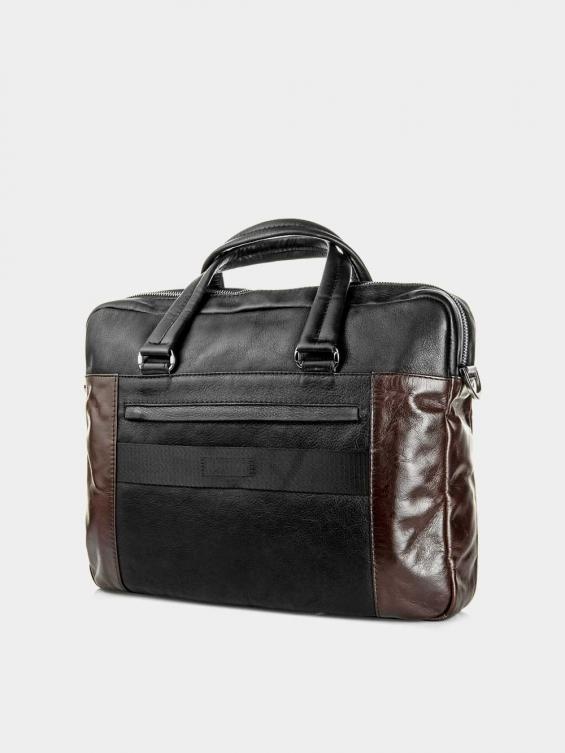 کیف اداری 51101 BE5049 BO رنگ قهوه ای نمای پشت