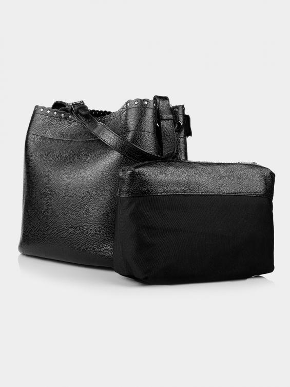 کیف دوشی زنانه 0229 LHB4751 BO رنگ مشکی نمای جلو
