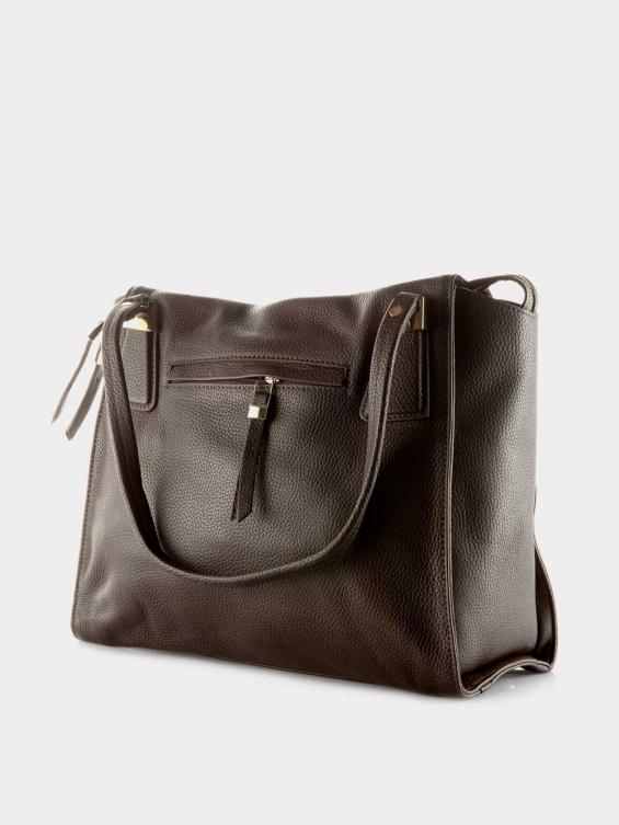 کیف دوشی زنانه 0212 LHB4719 BO رنگ قهوه ای نمای پشت