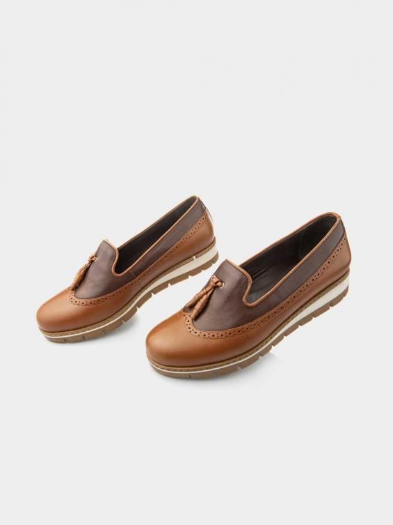 کفش اسپورت-زنانه-868--WS-2995 رنگ عسلی .قهوه ای
