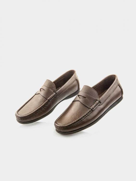 کفش کالج مردانه -8083---MS--2672 رنگ قهوه ای