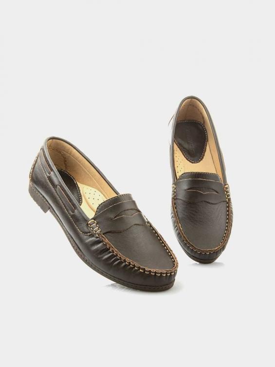 کفش کالج زنانه نسیم WS2461  KH رنگ قهوه ای